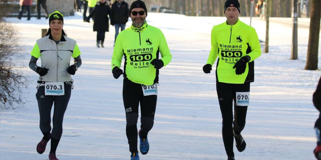 Wintermarathon in Leipzig